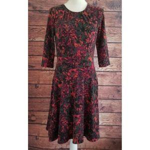 Leota Fall Colors Dress SZ Medium
